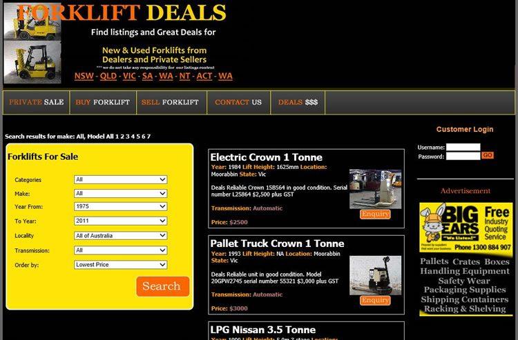 Forklift Deals